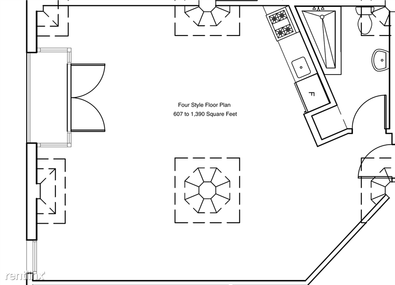 Cosmo Lofts - 2 - Four Style Floor Plan