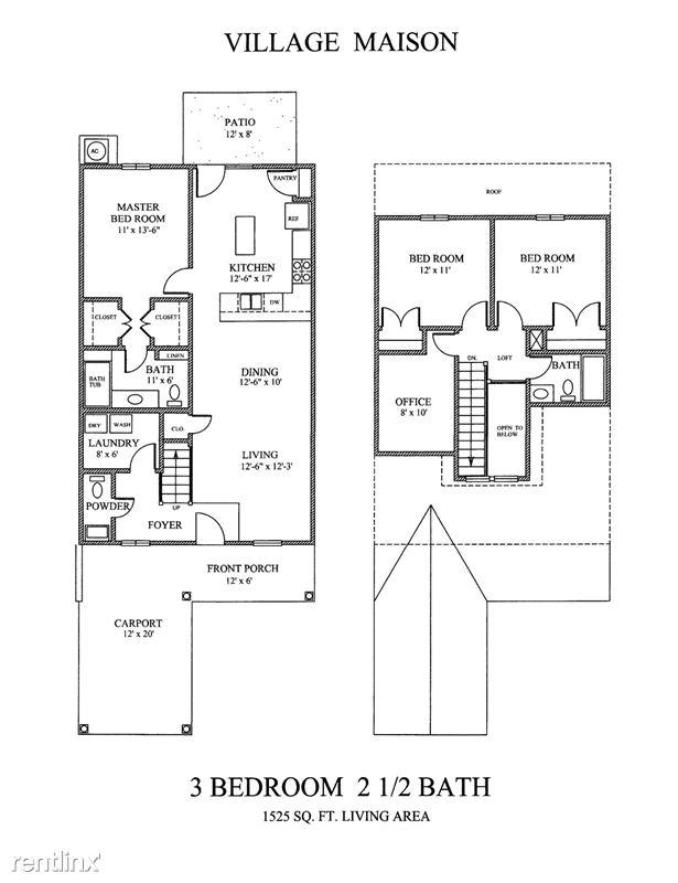 3 bd Floor Plan