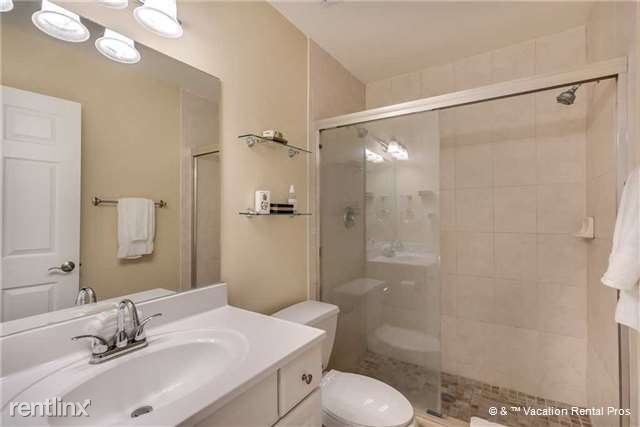 Enjoy a cool shower in our bright and clean master bath!
