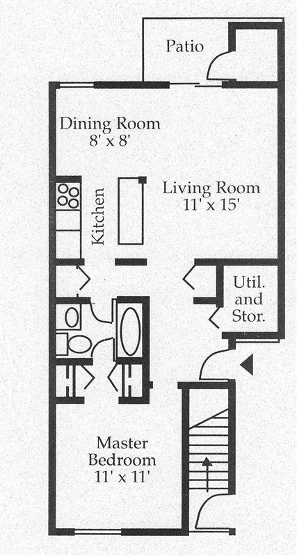 Turtle Creek Apartments - 2 - 1 BR Floor Plan Ia
