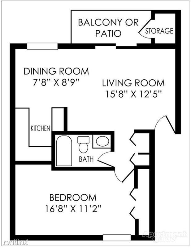Pangea Hills - 1 - Pangea Hills 1 Bedroom Apartment Floorplan Indianapolis _01