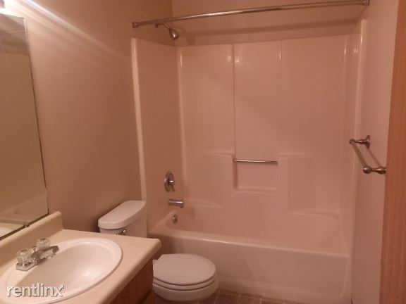Large bathroom with updated fixtures
