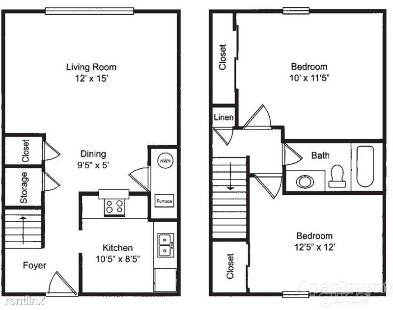 Pangea Riverside - 1 - Pangea Riverside 2 Bedroom Apartment Floorplan Indianapolis_03
