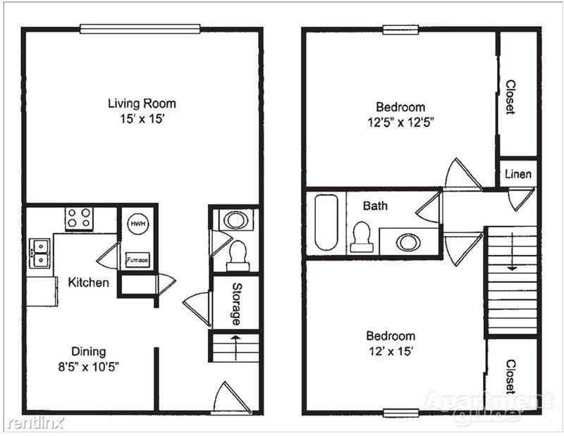 Pangea Riverside - 2 - Pangea Riverside 2 Bedroom Apartment Floorplan Indianapolis_04