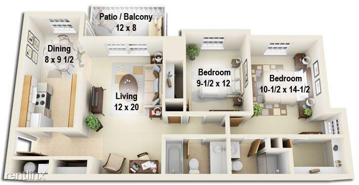 Pinewood Glen Apartments - 1 - 3D 2b2b_2