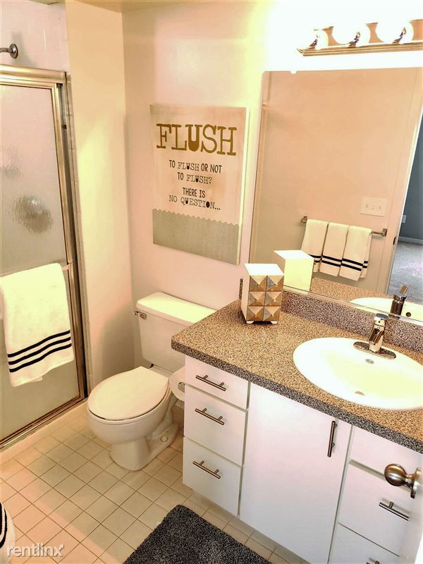 Westbury Village Townhouses - 3 - Private master bedroom bathroom with stand up shower