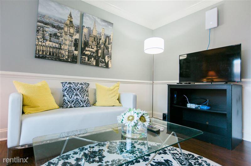 Furnished Suites in Royal Oak - 6 - 3923 Devon - Living room angled