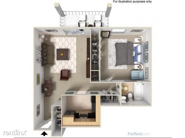 The Tower - 1 - A5, 1x1, 840 sq. ft.