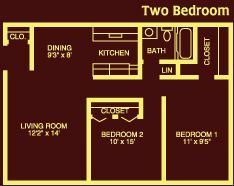 LCA 2 bedroom floorplan