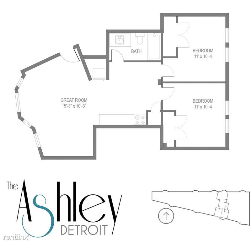 2bed 1bath layout