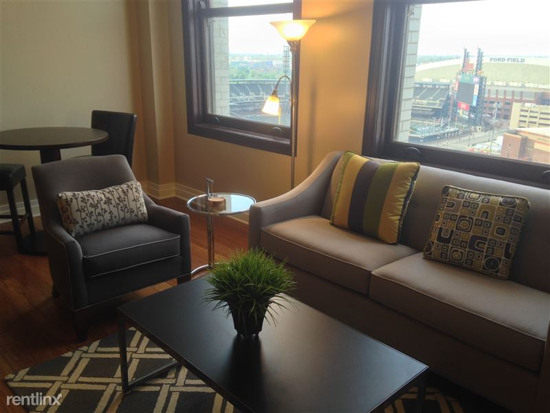 Detroit Flex-Lease/Furnished @ The David Whitney - 3 - 2-Living room with view2