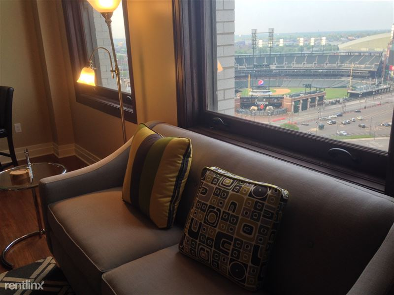 Detroit Flex-Lease/Furnished @ The David Whitney - 4 - 3.0-Sofa with Comerica view