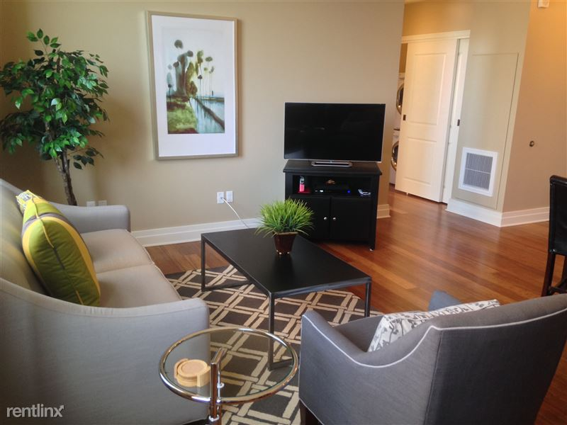 Detroit Flex-Lease/Furnished @ The David Whitney - 1 - 8-Living room and HDTV