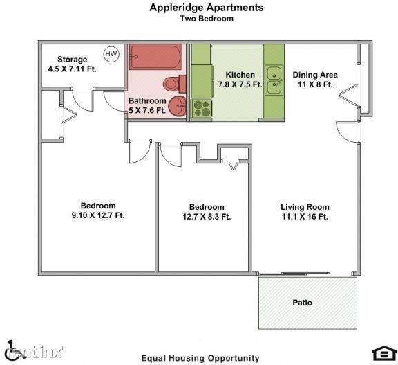 Appleridge Apartments (1133 Fuller Avenue), Big Rapids, MI