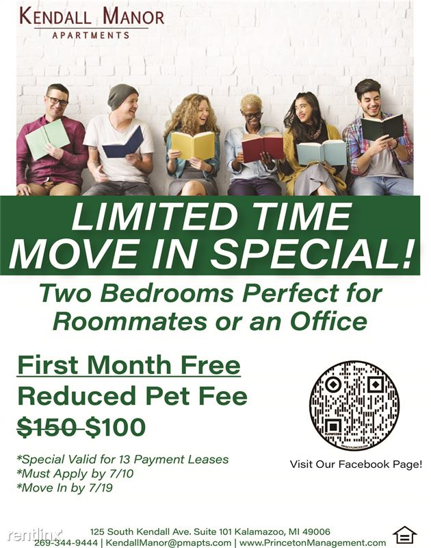 Kendall Manor Apartments - 1 - Kendall Manor 2 Bed Special