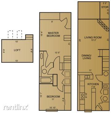 Riviera Town home Floorplan