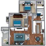 Live Oak Apartments - 3 - LO_C1_2BD1BA