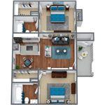 Live Oak Apartments - 4 - LO_D1_2BD2BA