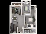 Americana Apartments B - 1 - Americana_2x1_1007sqft_Web