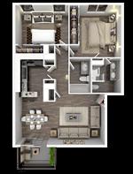 Broadway Oaks Apartment Homes - 4 - B2_3d