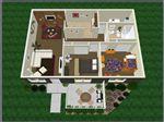 2bedroom1bath 3D