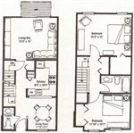 Forest Hills - 3 - Two Bedroom Townhouse (1078 Square Feet)