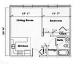 Typical Mount Mercy Apartments Floor Plan