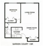 Garden Court Apartments and Townhomes - 1 - Floor Plan