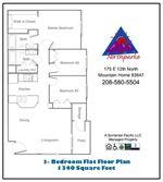 North Parke 3 Bedroom Flat Floor Plan
