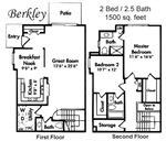 Westbury Village Townhouses - 1 - Berkley Floor plan