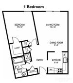 Pangea Fields 1 Bedroom Apartment Floorplan Indianapolis_01
