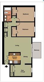 Pangea Groves - 2 - Pangea Groves Apartments Indianapolis 2-Bed-Living-Dining-Den-HN_010