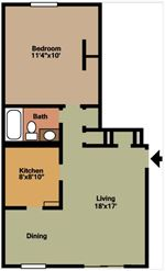 Pangea Groves - 1 - Pangea Groves Apartments Indianapolis 1-Bed-Floor-Plan-HN_04