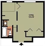 Pangea Groves - 5 - Pangea Groves Apartments Indianapolis Studio-Floor-Plan-HN_015