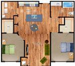 One Penrose Place - 2 - One Penrose Place - 2 Bedroom Floorplan