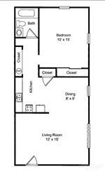 Pangea Riverside - 1 - Pangea Riverside 1 Bedroom Apartment Floorplan Indianapolis_01