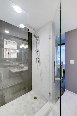 designer shower in Master Bedroom