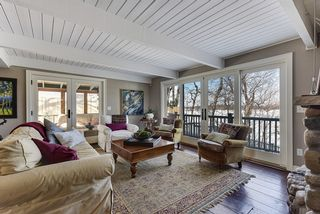 Living room with sweeping views of St. Albans Bay