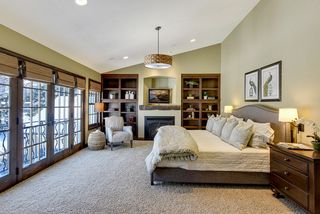 Vaulted Master Suite with gas fireplace