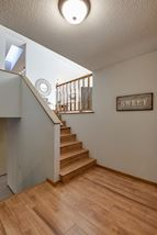 Large foyer area with ample closet space and room to greet guests