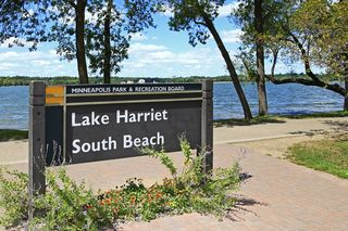 Nearby Lake Harriet public beach.
