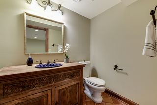 lower level powder room