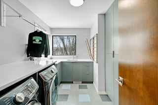 2nd floor laundry room overlooking the creek