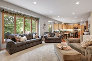 The open floor plan makes entertaining a breeze