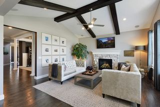 Warm and inviting Great Room with cozy fireplace...