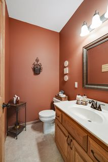 Convenient main floor half bath