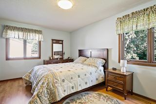 Spacious master bedroom with walk-thru to bath