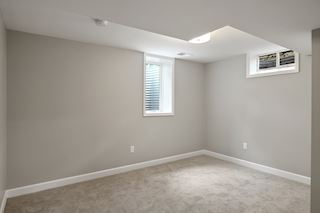 Lower level bedroom / office with a new egress window and a large closet.