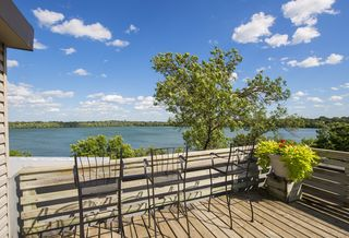 Rooftop deck with views of Lake Harriet