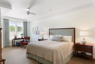 Spacious master suite in the rear of the building that has an office enclave